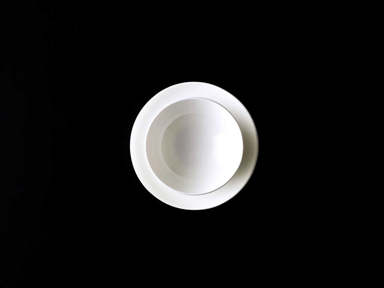 Bent Brandt tableware - TABL white bone china S1 bowl on S2 saucer