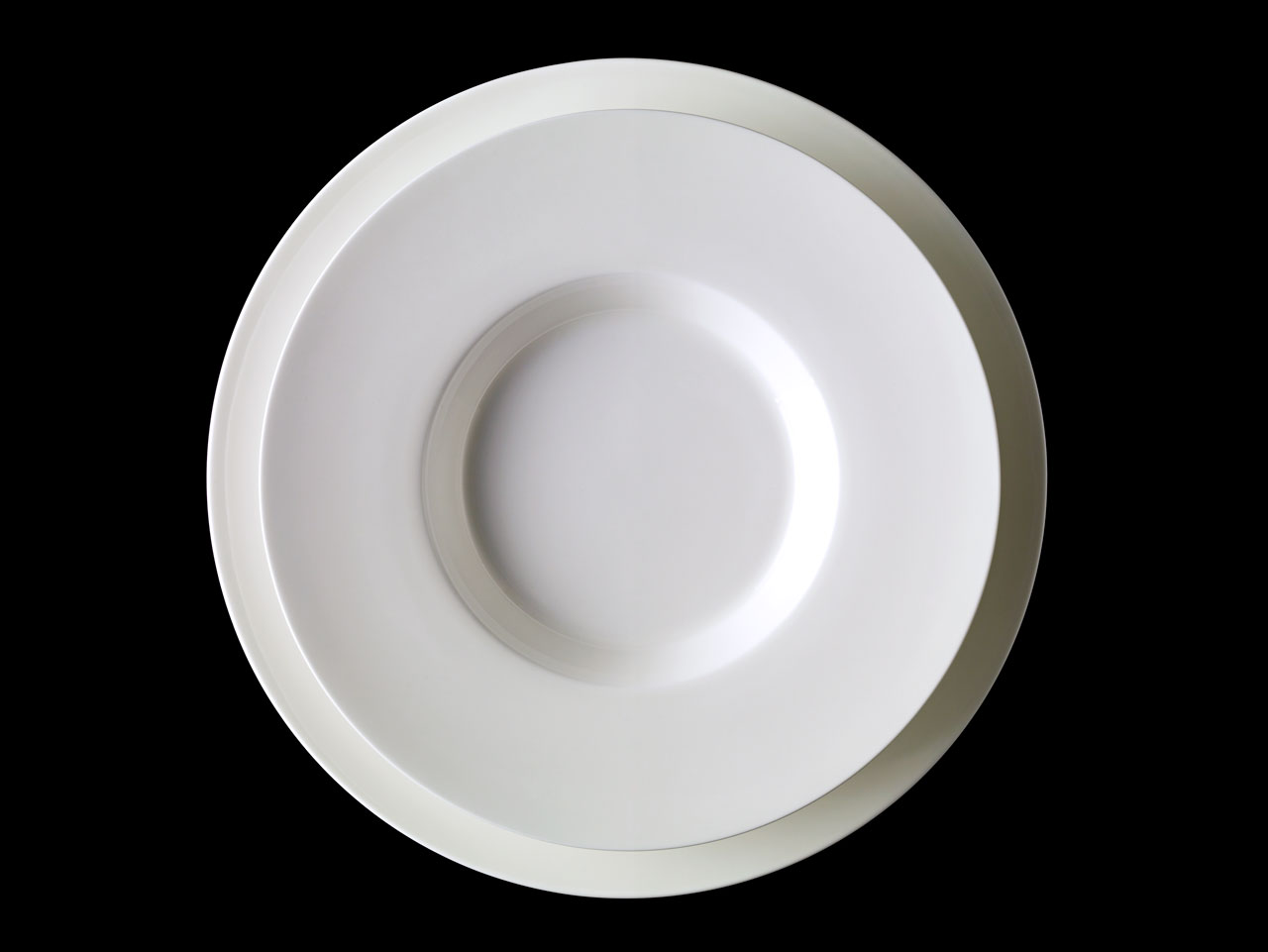 Bent Brandt - TABL white bone china S1 soup plate on S2 plate