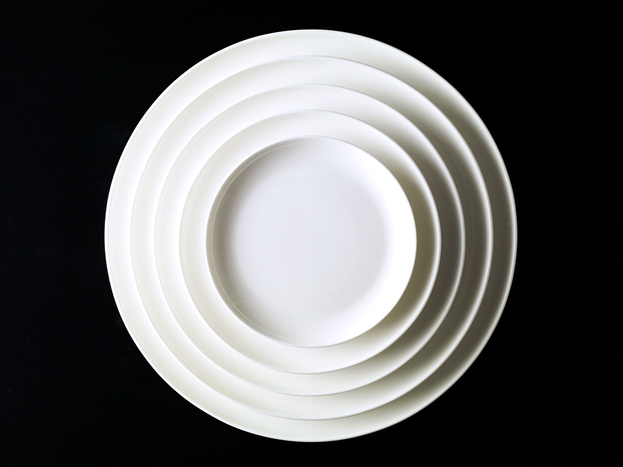 Bent Brandt - stacked TABL white bone china S2 plates