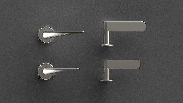 HB101 Door Handles, Brushed finish, for Frost.dk, 2009
