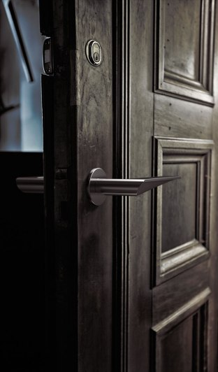 HB101 Door Handle, Brushed finish, for Frost.dk, 2009
