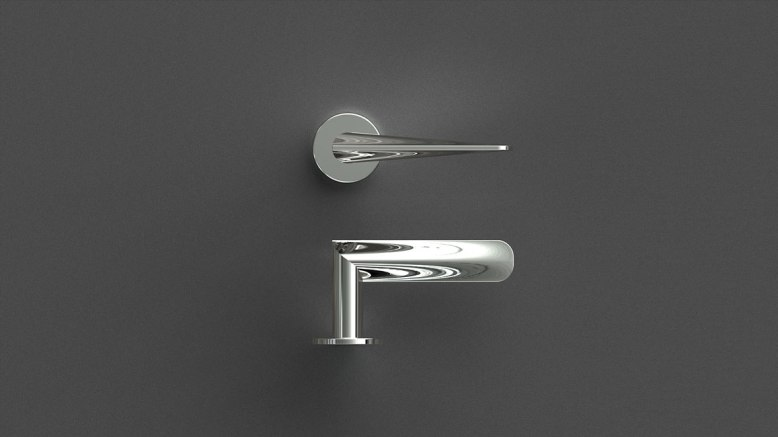 HB102 Door Handle, Polished finish, for Frost.dk, 2009