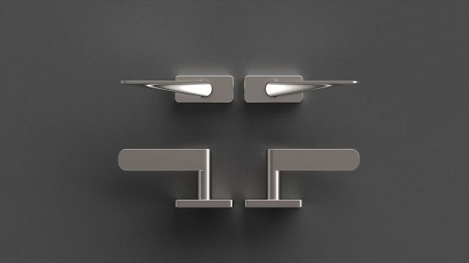 HB101 Window Handles, Brushed finish, for Frost.dk, 2009