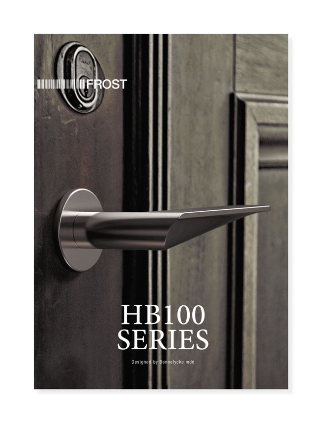 HB100 Brochure for Frost A/S, Handles Introduction, 2012