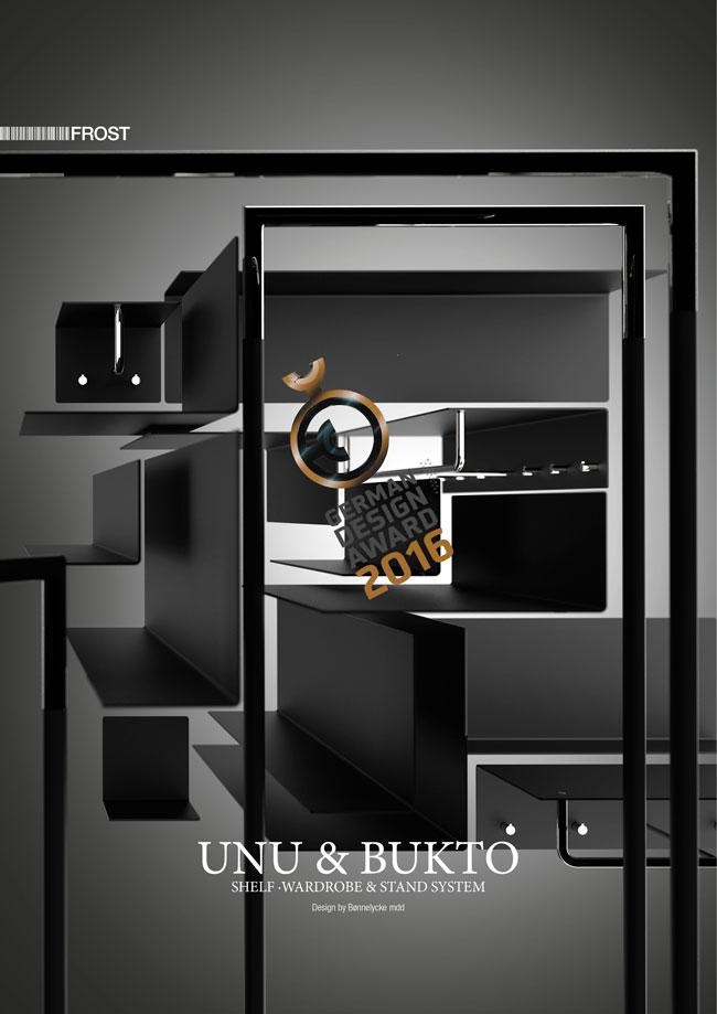UNU Shelf, Storage, Wardrobe and Bathroom System for Frost.dk 2009