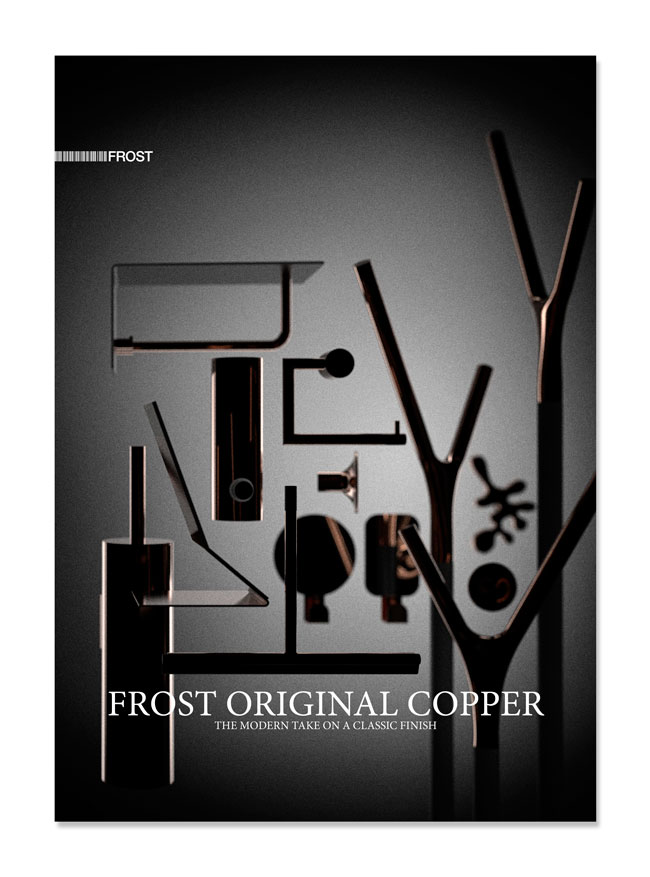 Frost Original Copper, catalogue for Frost A/S, 2015