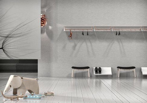 UNU Aluminium Shelf and Wardrobe System Material: Aluminium, Stainless Steel, polished, brushed or copper finish Client: Frost.dk