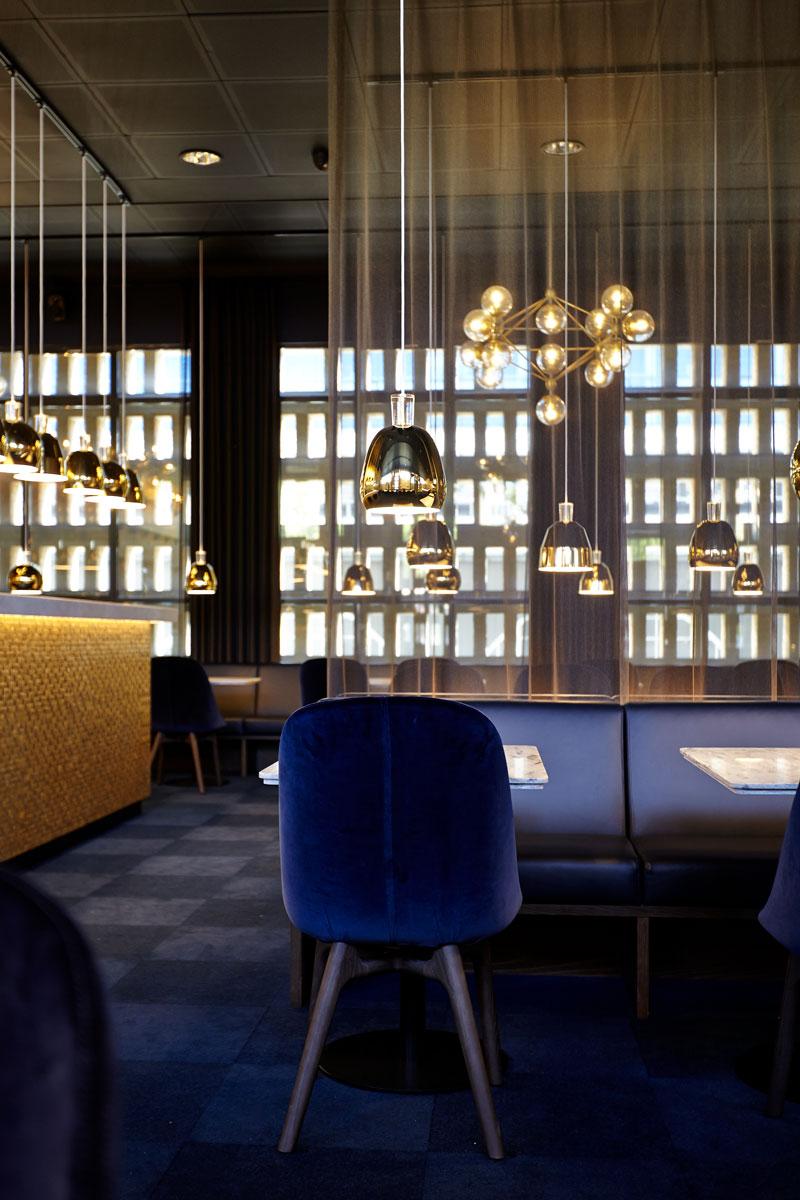 Café and restaurant Opera in Aarhus Denmark designed by Bonnelycke mdd in 2017